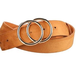 Jena Tan Faux Suede Belt